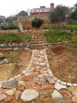 Stone oath and steps up the terrace