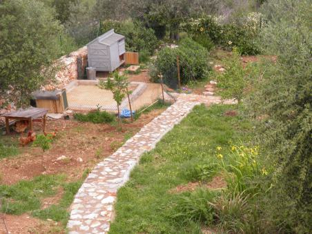 Stone path to thechicken shedERA